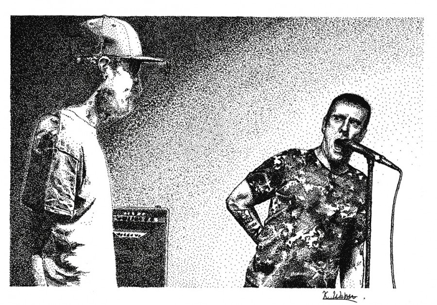 Sleaford Mods (Out Of The Din) postcard edit